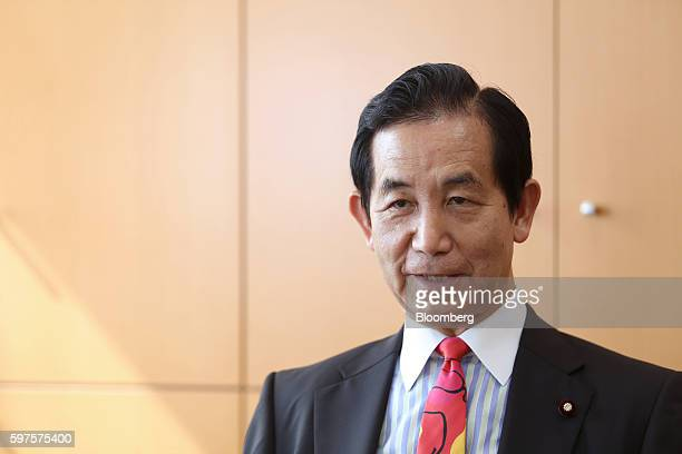 Kozo Yamamoto Japan's minister of regional revitalization speaks during an interview in Tokyo Japan on Friday Aug 26 2016 Yamamoto stressed the...