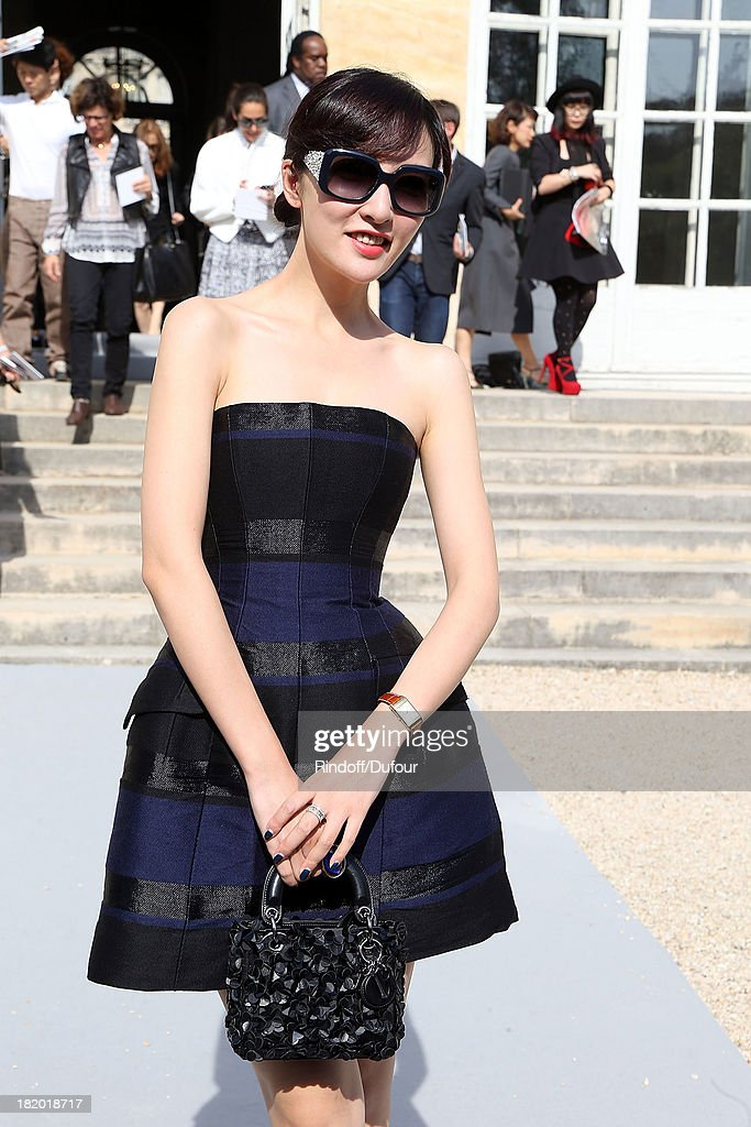 Kozue Akimoto Arrives Christian Dior show as part of the Paris Fashion Week Womenswear Spring/Summer 2014 on September 27, 2013 in Paris, France.
