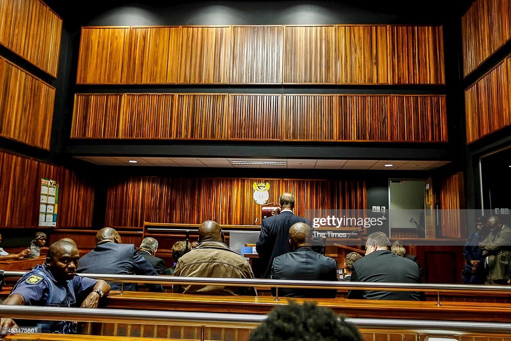 KPolice presence at the Palm Ridge Magistrate's Court on December 2, 2013, in Johannesburg, South Africa. Czech bunsinessman, Radovan Krejcir, is allegedly the head of an international drug-smuggling syndicate. He is also accused of kidnapping and assault.