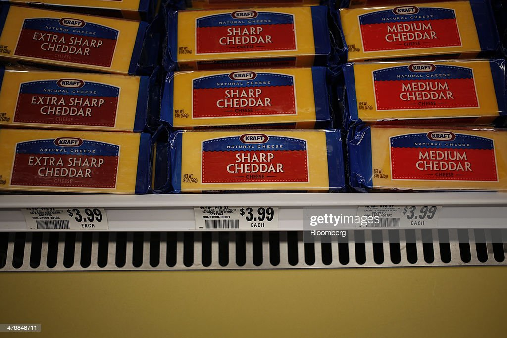 Kraft Foods Group Inc. cheese is displayed for sale at a Publix Super Markets Inc. grocery store in Knoxville, Tennessee, U.S., on Wednesday, March 5, 2014. Publix's sales for the fourth quarter of 2013, were $7.4billion, a 5.3 percent increase from last year's $7.0 billion. Photographer: Luke Sharrett/Bloomberg via Getty Images