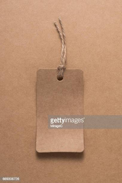 Kraft Label on Kraft Paper Background