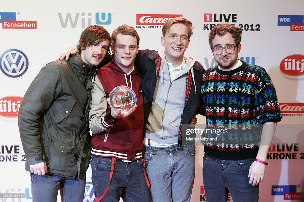 Kraftclub attends the '1Live Krone' at Jahrhunderthalle on December 6, 2012 in Bochum, Germany.