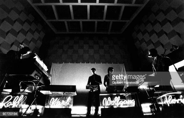 Kraftwerk perform live in Rotterdam at the SF Festival on March 21 1976 LR Ralf Hutter Karl Bartos Wolfgang Flur Florian Schneider