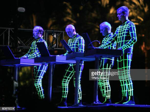 Kraftwerk performs at the 2008 Coachella Valley Music and Arts Festival on April 26 2008 in Indio California