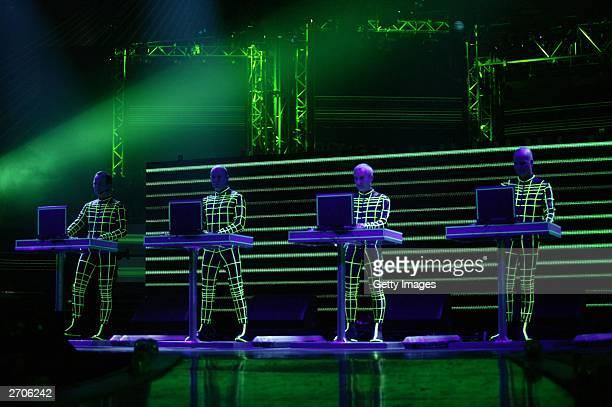 Kraftwerk performs at the MTV Europe Music Awards 2003 November 6 2003 in Edinburgh Scotland