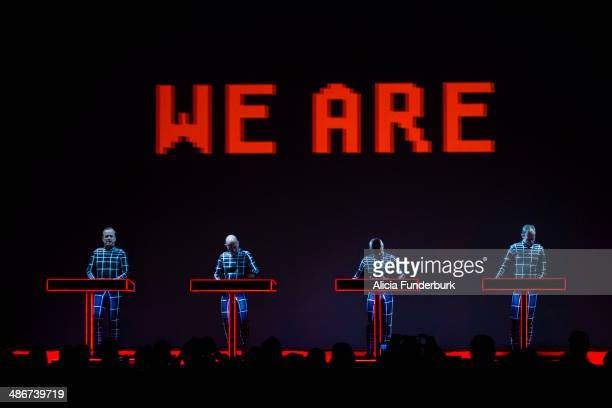 Kraftwerk performs during Moogfest 2014 on April 25 2014 in Asheville North Carolina