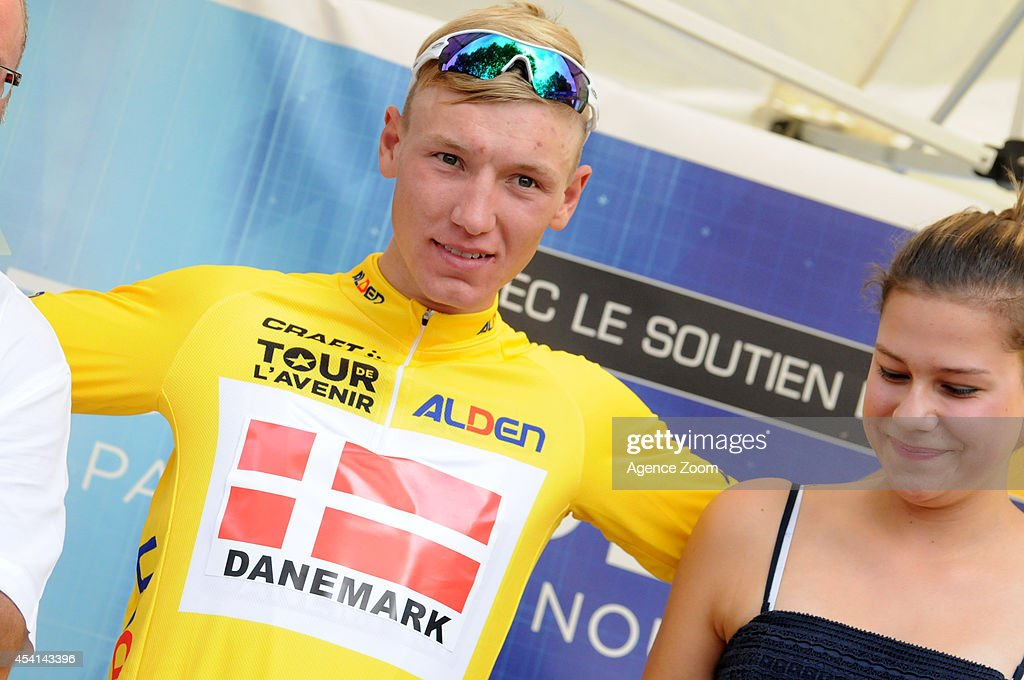 A. Kragh Andersen of Denmark during Stage Two of the Tour de l'Avenir on August 25, 2014 in Brioude, France.