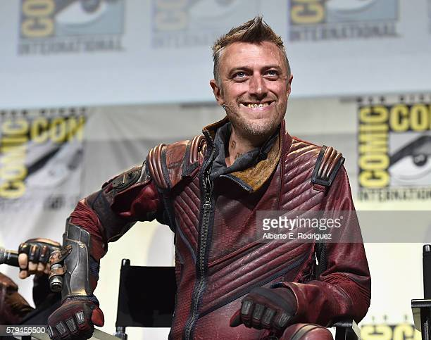 """Kraglin from Marvel Studios' 'Guardians Of The Galaxy Vol 2"""" attends the San Diego ComicCon International 2016 Marvel Panel in Hall H on July 23 2016..."""