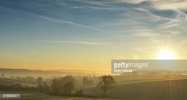 Kraichgau Region - Sunrise over Misty Landscape