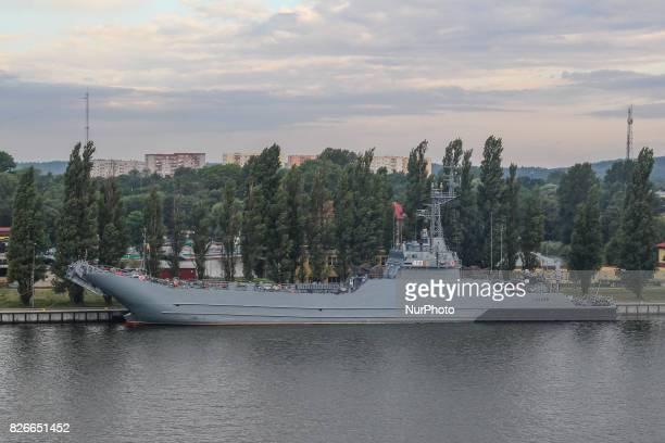 ORP Krakow Polish Navy ship is seen on 30 July 2017 in Swinoujscie Poland