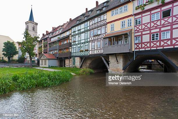 Kramerbrucke bridge in Erfurt, Thuringia, Germany
