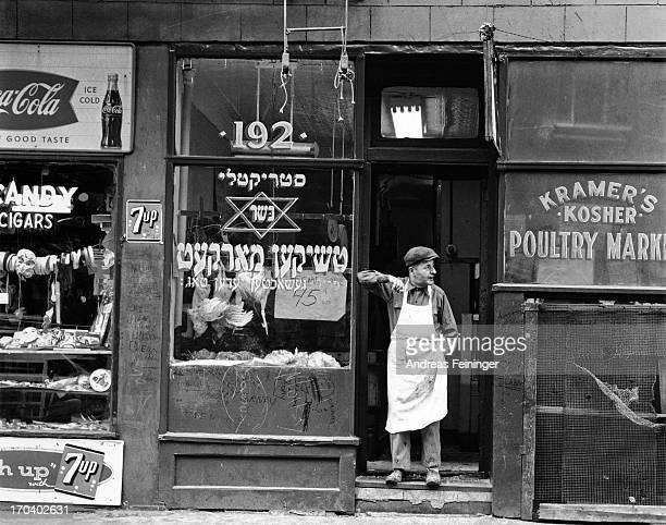 Kramer's Kosher Poultry Market in New York City USA circa 1940