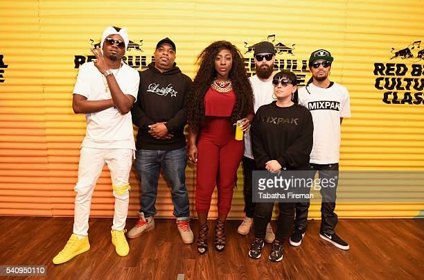 Kranium Serocee Spice Dre Skull Jubilee and guest attend Red Bull Culture Clash at the O2 Arena on June 17 2016 in London England