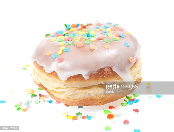 krapfen - doughnut isolated on white with Zuckerguss