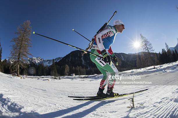 Krasimir Anev of Bulgaria competes during the 20 km men's Individual on January 20 2017 in AntholzAnterselva Italy