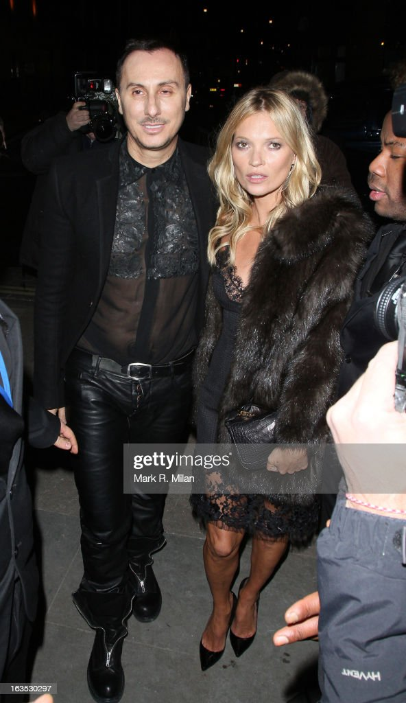 Kérastase's artistic director and studio hairdresser Luigi Murenu and Kate Moss at One Mayfair for the Kerastase launch event on March 11 2013 in...