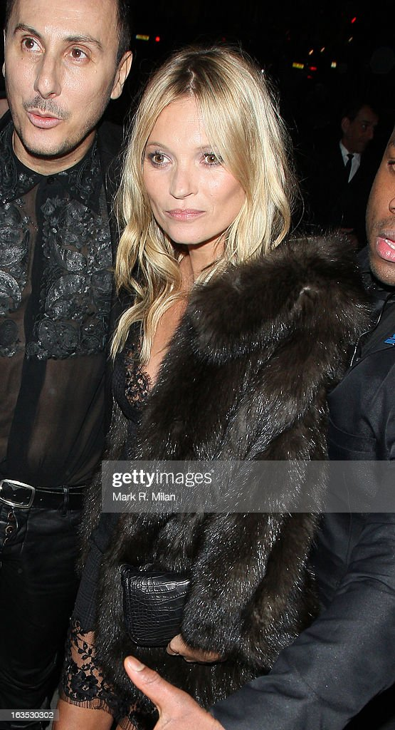 Kérastase's artistic director and studio hairdresser Luigi Murenu and <a gi-track='captionPersonalityLinkClicked' href=/galleries/search?phrase=Kate+Moss&family=editorial&specificpeople=201830 ng-click='$event.stopPropagation()'>Kate Moss</a> at One Mayfair for the Kerastase launch event on March 11, 2013 in London, England.