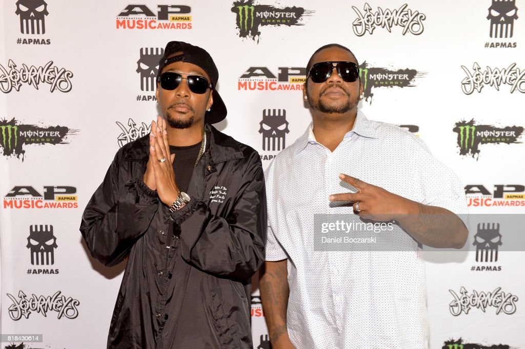 Krayzie Bone and Wish Bone of Bone Thugs attend the 2017 Alternative Press Music Awards at KeyBank State Theatre on July 17, 2017 in Cleveland, Ohio.