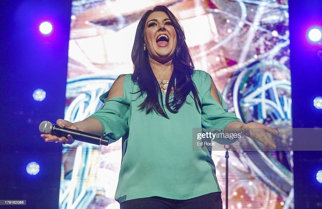 <a gi-track='captionPersonalityLinkClicked' href=/galleries/search?phrase=Kree+Harrison&family=editorial&specificpeople=10539034 ng-click='$event.stopPropagation()'>Kree Harrison</a> performs during American Idol Live! 2013 at Bridgestone Arena on August 31, 2013 in Nashville, Tennessee.