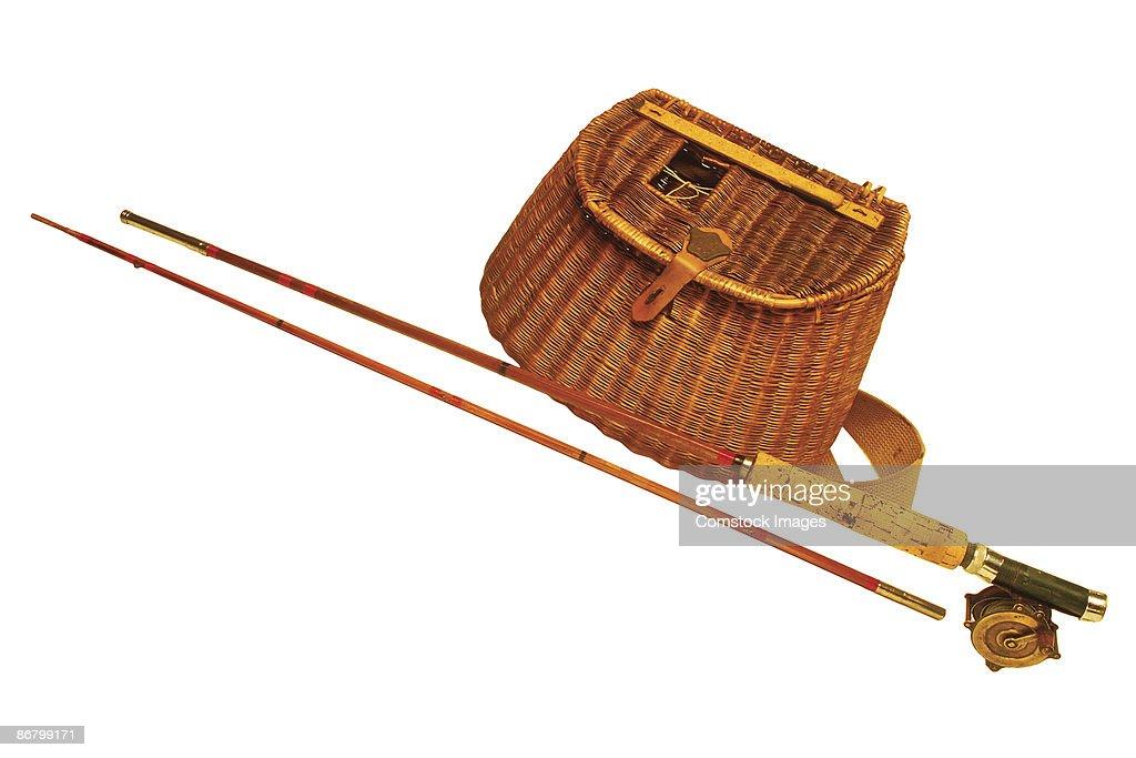 Kreel basket and fly rod