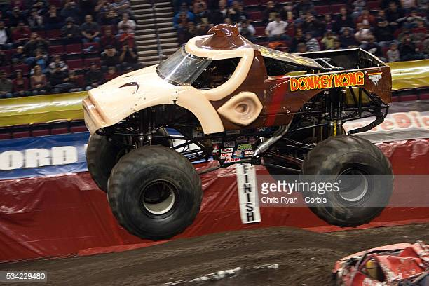 Kreg Christensen and Donkey Kong during the freestyle portion of a Monster Jam event at Rose Garden arena in Portland