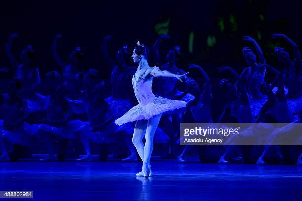 Kremlin Ballet dancer performs during gala concert dedicated of theater 'Kremlin Ballet'' opening of the IV International Festival of Ballet at the...