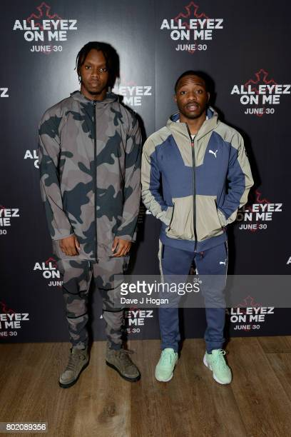 Krept and Konan attend the 'All Eyez On Me' UK Film Premiere on June 27 2017 in London England