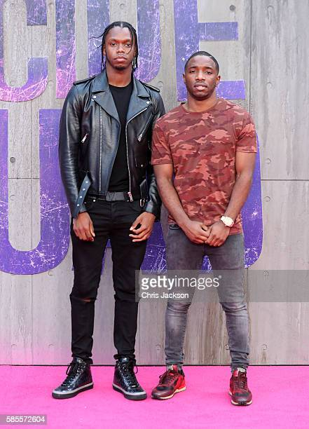 Krept and Konan attend the European Premiere of 'Suicide Squad' at the Odeon Leicester Square on August 3 2016 in London England