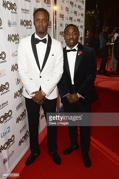 Krept and Konan attend the MOBO Awards at First Direct Arena on November 4 2015 in Leeds England