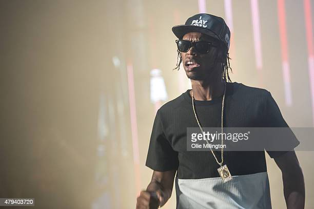 Krept of Krept and Konaon performs onstage during dat 1 of New Look Wireless Festival 2015 at Finsbury Park on July 3 2015 in London England
