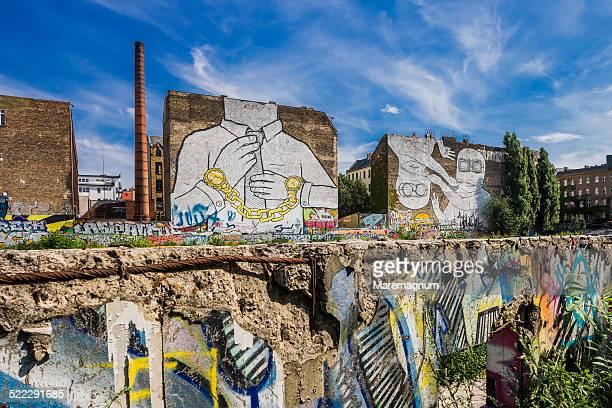 Kreuzberg, a wall, graffiti on the background
