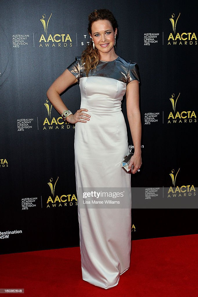 Krew Boylan arrives at the 2nd Annual AACTA Awards at The Star on January 30, 2013 in Sydney, Australia.