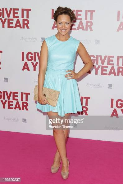 Krew Boylan arrives at the premiere of 'I Give It A Year' at Event Cinemas George Street on January 15 2013 in Sydney Australia