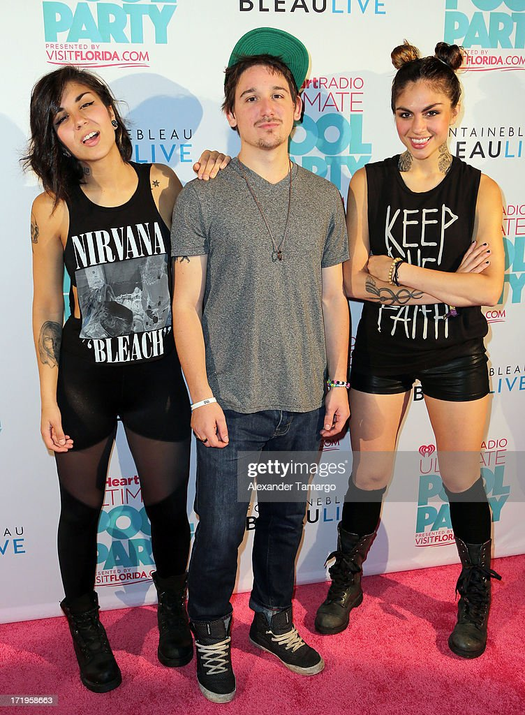 Krewella attends iHeartRadio Ultimate Pool Party Presented By VISIT FLORIDA at Fontainebleau Miami Beach on June 29, 2013 in Miami Beach, Florida.