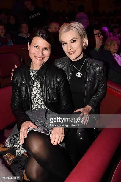 Kriemhild JahnSiegel and her sister Heidrun JahnWiesenberger attends the 'Wunderwelt der Manege' Circus Krone Premiere on February 1 2015 in Munich...