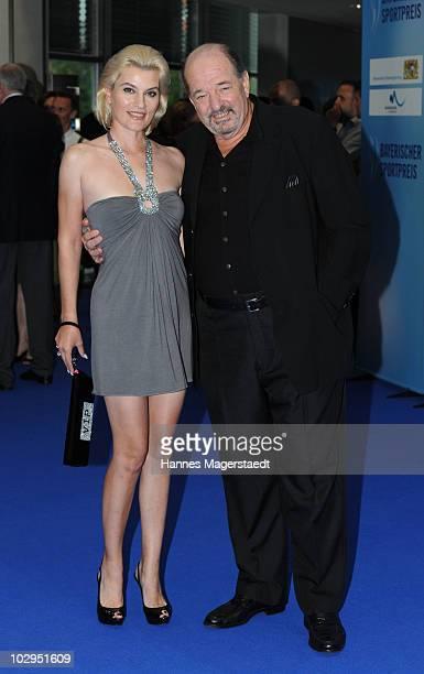 Kriemhild JahnSiegel and Ralph Siegel attend the Bavarian Sport Award 2010 at the International Congress Center Munich on July 17 2010 in Munich...