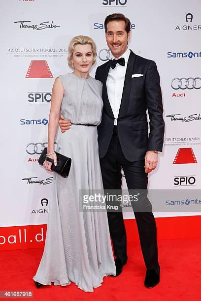 Kriemhild Siegel and Joerg Oppermann attend the German Film Ball 2015 on January 17 2015 in Munich Germany