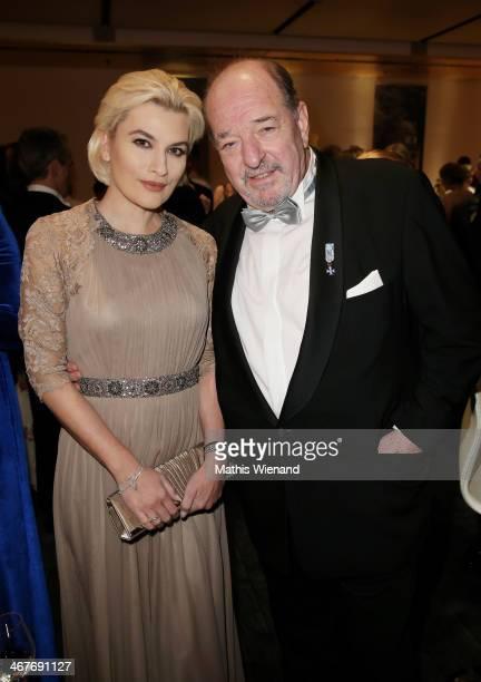 Kriemhild Siegel and Ralph Siegel attend the Semper Opera Ball at Semperoper on February 7 2014 in Dresden Germany