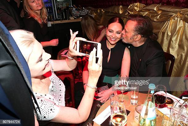 Kriemhild Siegel Ornella Muti and Franco Nero during the Lambertz Monday Night 2016 at Alter Wartesaal on February 1 2016 in Cologne Germany