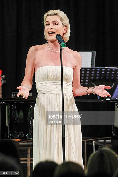 Kriemhild Siegel performs at the Passauer Runde Hosts Christmas Charity on December 05 2014 in Passau Germany