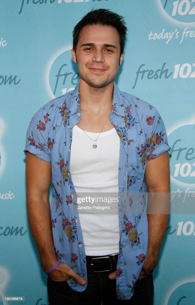 Kris Allen attends the 102.7 FM Fresh in the Park 2012 concert at Eisenhower Park on August 18, 2012 in East Meadow, New York.
