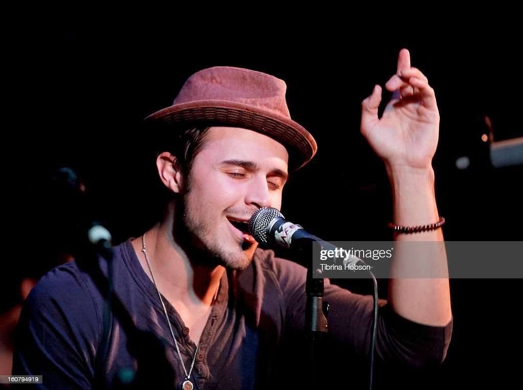 Kris Allen performs at the Hotel Cafe on February 5, 2013 in Hollywood, California.