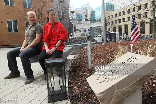 Kris Brewer a webmaster at MIT and sophomore Sally Miller were friendly with MIT police officer Sean Collier They are by memorial that was erected...
