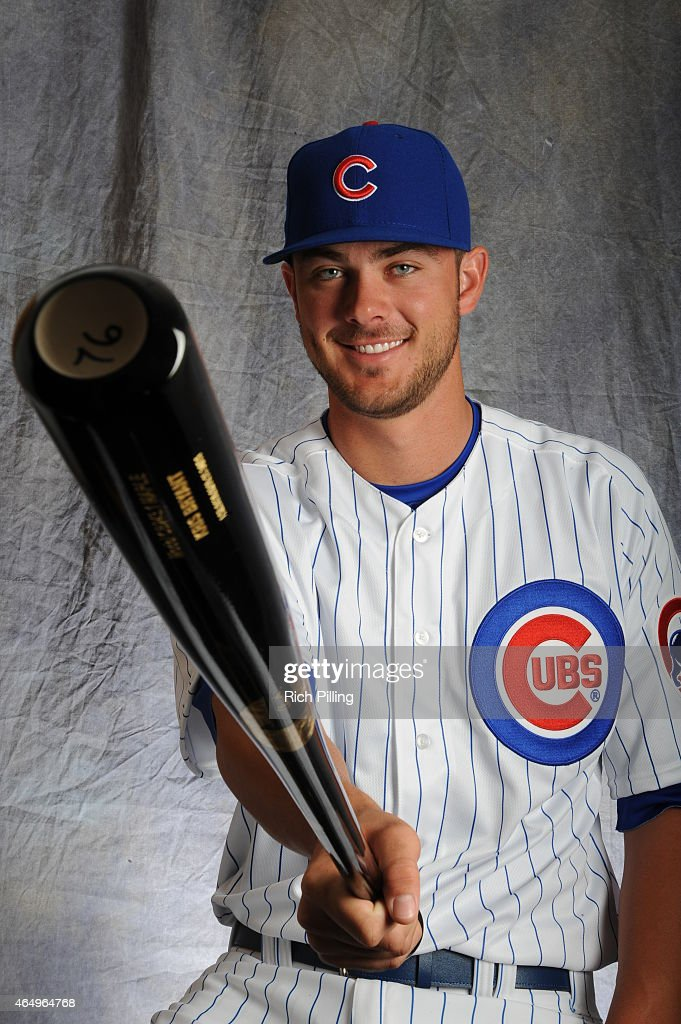 Kris Bryant #76 of the Chicago Cubs poses for a portrait during Photo Day on March 2, 2015 at Sloan Park in Mesa, Arizona.