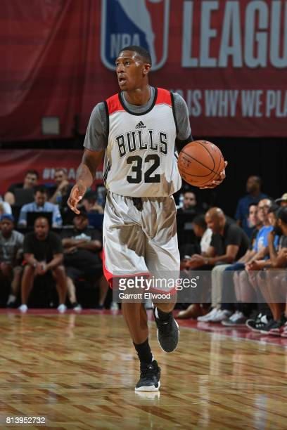 Kris Dunn of the Chicago Bulls dribbles against the Dallas Mavericks on July 8 2017 at the Thomas Mack Center in Las Vegas Nevada NOTE TO USER User...