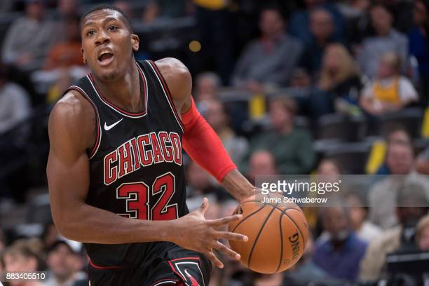 Kris Dunn of the Chicago Bulls drives to the hoop against the Denver Nuggets at Pepsi Center on November 30 2017 in Denver Colorado NOTE TO USER User...