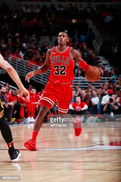 Kris Dunn of the Chicago Bulls handles the ball against the Cleveland Cavaliers on December 4 2017 at the United Center in Chicago Illinois NOTE TO...