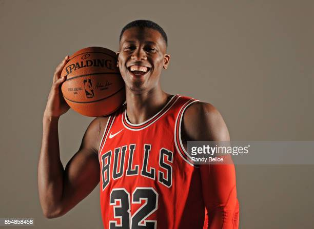 Kris Dunn of the Chicago Bulls poses for a portrait during the 201718 NBA Media Day on September 25 2017 at the United Center in Chicago Illinois...