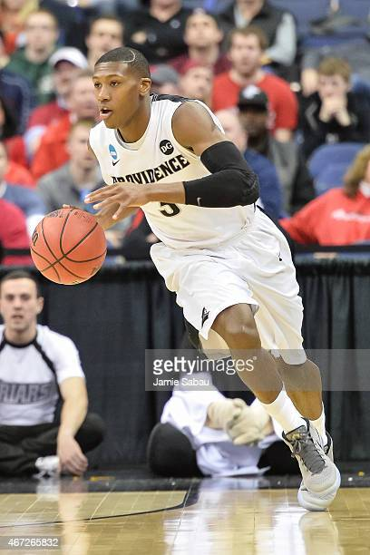 Kris Dunn of the Providence Friars controls the ball against the Dayton Flyers during the second round of the 2015 NCAA Men's Basketball Tournament...