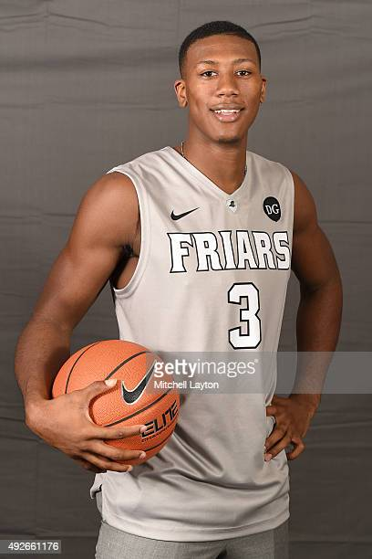 Kris Dunn of the Providence Friars poses for photos during the Big East Men's Women's Basketball Media Day at Madison Square Garden on October 14...